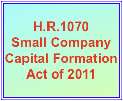 H.R. 1010 Small Company Capital Formation Act of 2011